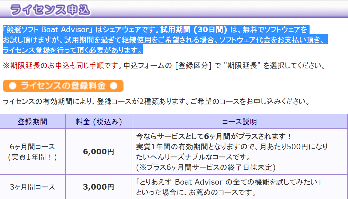 Boat Advisor 料金