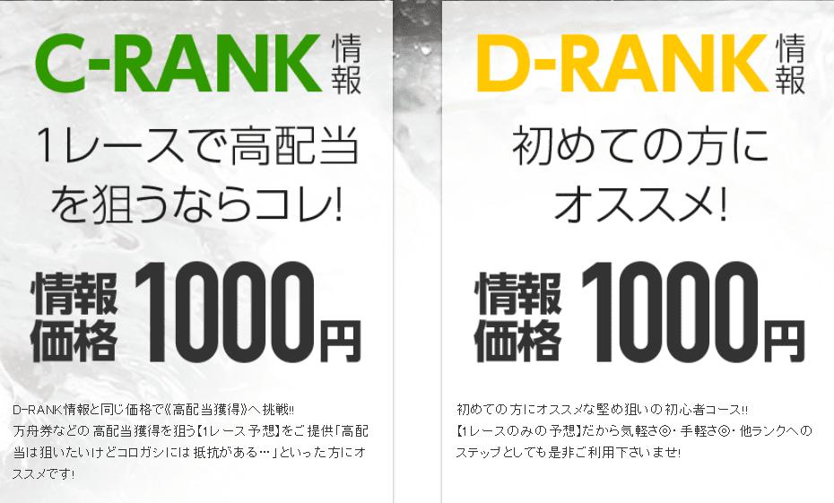 Dランク情報 Cランク情報