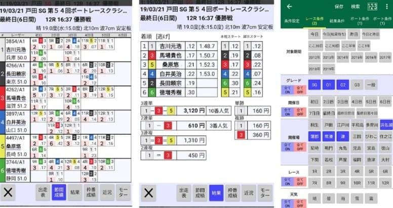 競艇アプリの競艇レース検索アプリB80
