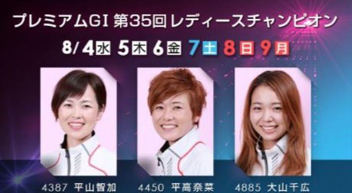 レディースチャンピオン2021(浜名湖競艇PG1)の出場選手