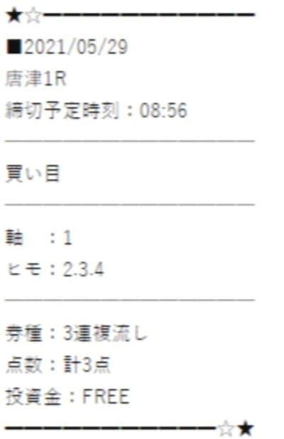万舟ジャパンの無料情報5レース目検証