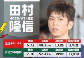 四国地区選手権2021(丸亀競艇G1)で田村隆信が徳島勢の先頭を走る