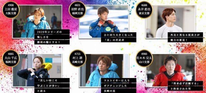 ヤングダービー2021(徳山競艇PG1)の公式イチオシピックアップレーサー6選!